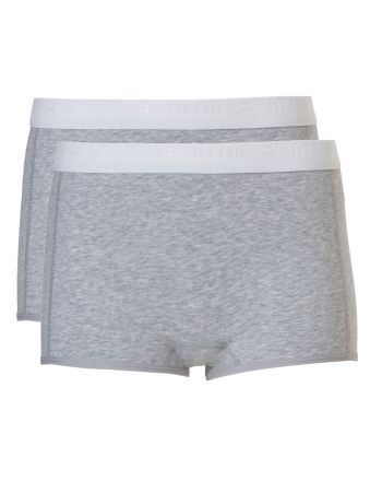 Ten Cate Meisjes Shorts 2Pack Light Grey Melee 10-18Y Teens