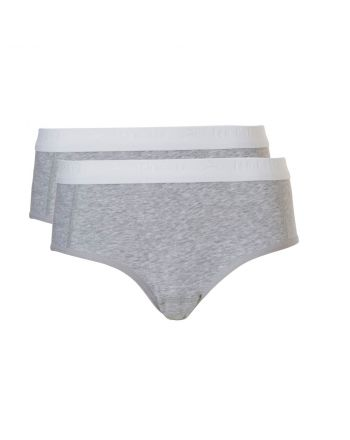 Ten Cate Meisjes Hipster Slip 2Pack Light Grey Melee 10-18Y Teens