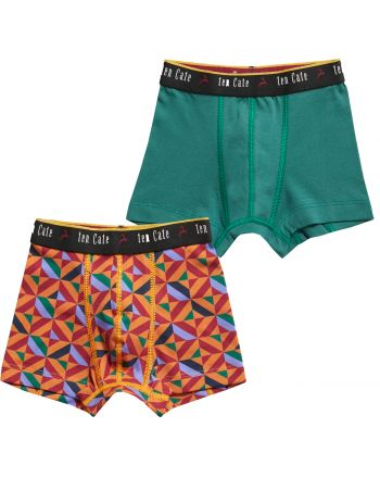 Ten Cate Jongens Boxershort Tiles Golden 2Pack 3-10Y