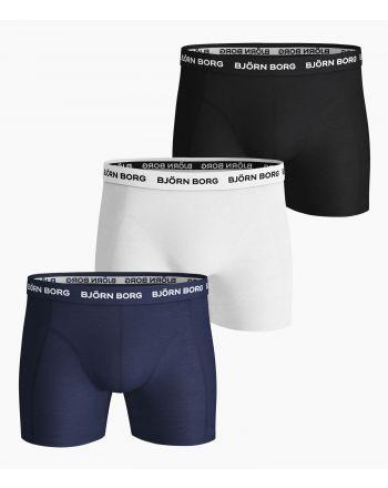 Bjorn Borg Boxershorts 3Pack SOLIDS Blue Depths