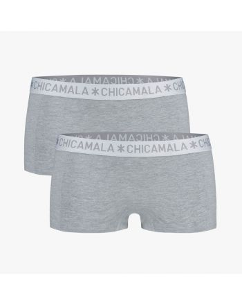 ChicaMala BASIC Short Grijs 2Pack Dames Ondergoed