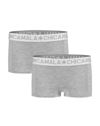 ChicaMala BASIC Short Grijs 2Pack Meisjes Ondergoed