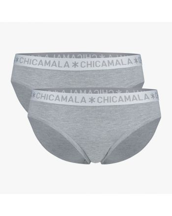 ChicaMala BASIC Brief Slip Grijs 2Pack Dames Ondergoed