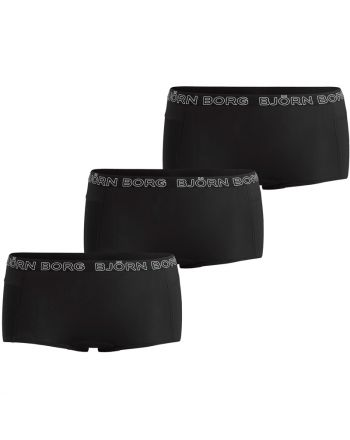 Bjorn Borg Dames 3Pack Mini Shorts Mia Black Beauty