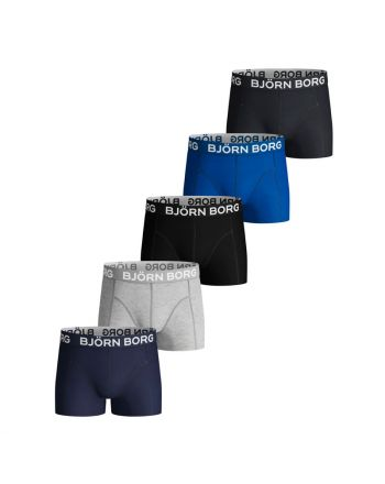 Bjorn Borg 5Pack Boys Shorts Blue Depths