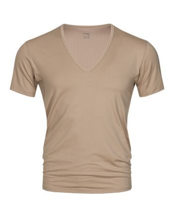MEY Heren V-neck Nude Dry Cotton Het Eronderhemd Business Shirt 46038