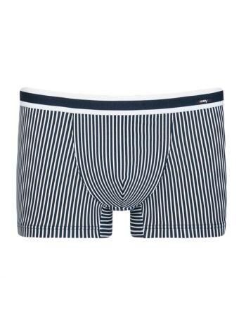 MEY Heren Shorty Boxer Stripe Yacht Blue 33421