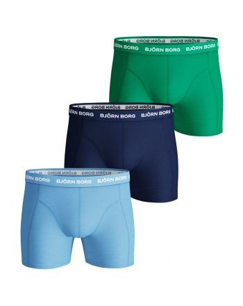 Bjorn Borg Boxershorts 3Pack SAMMY SEASONAL SOLIDS Placid Blue
