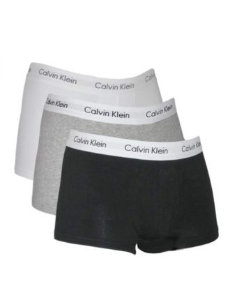 Calvin Klein Ondergoed Classic Mix 3pak low rise trunk