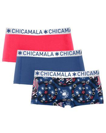 ChicaMala 3Pack FLOWER POWER Short Meisjes