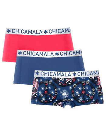 ChicaMala 3Pack Flower Power Shorts MuchachoMalo Dames Ondergoed