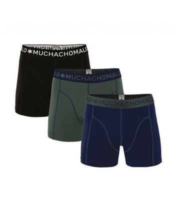 Muchachomalo heren 3pack Solid 186