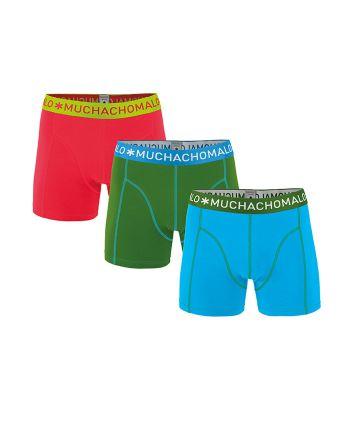 Muchachomalo jongens 3pack Solid 182