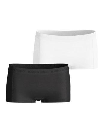 Björn Borg dames 2pack minishorts zwart & wit