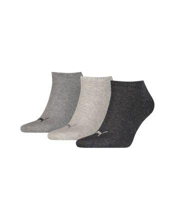 Puma unisex sneaker sokken 3 paar grijs