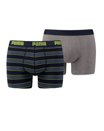 Puma heren 2pack Rugby Stripe Blue Lime