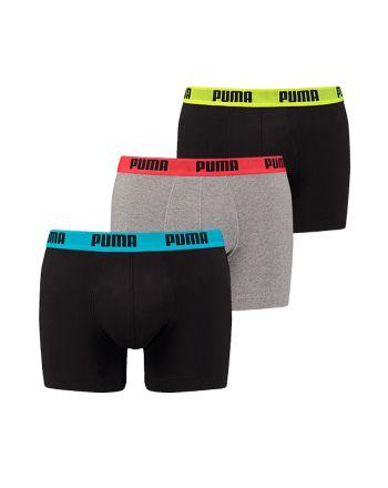 Puma heren 3-pack Basic Mid Grey/Black