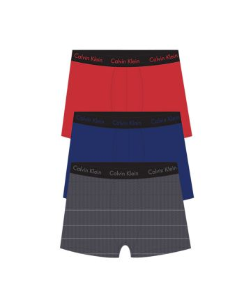 Calvin Klein heren 3pack Classic boxershorts red, blue & charcoal