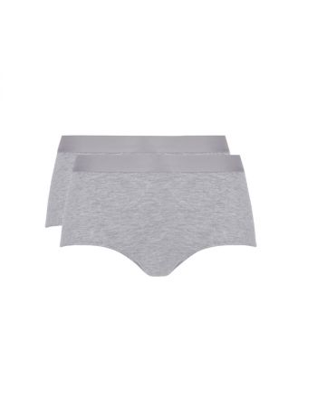Ten Cate Vrouwen Fine High Waist Brief Grijs Melee 2Pack
