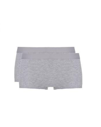 Ten Cate Vrouwen Fine Shorts Grijs Melee 2Pack