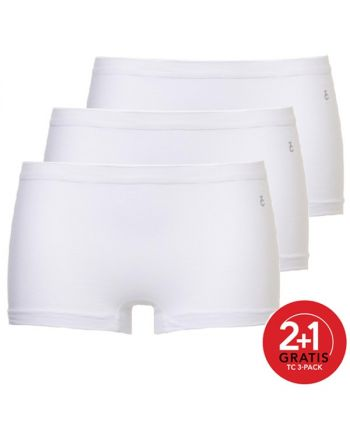 Ten Cate Vrouwen Short Wit 2+1 Gratis 3pack