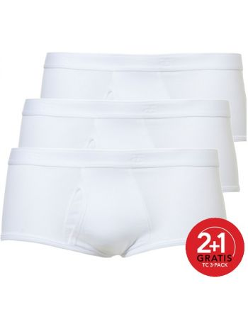 Ten Cate Mannen Basic Classic Brief Wit 2+1 Gratis 3pack