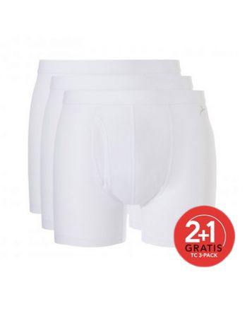 Ten Cate Mannen Basic Boxer Wit 2+1 Gratis 3pack