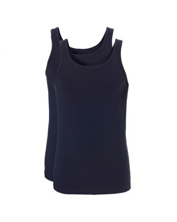 Ten Cate Mannen Fine Singlet Royal Navy 2pack