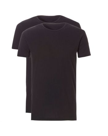 Ten Cate Mannen Basic T-shirt 2Pack Zwart