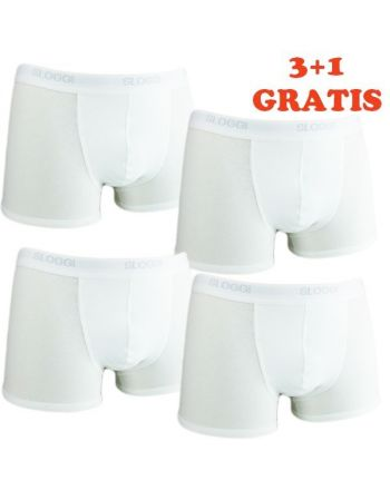 Sloggi Men Basic Short White 4Pack, 3+1 gratis