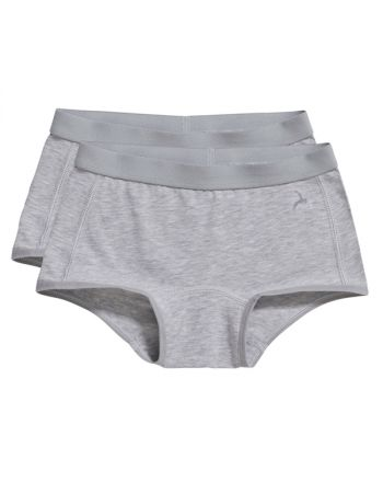 Ten Cate Meisjes Short 2Pack Grey Melee 2-6Y