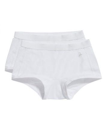 Ten Cate Meisjes Short 2Pack Wit 2-6Y