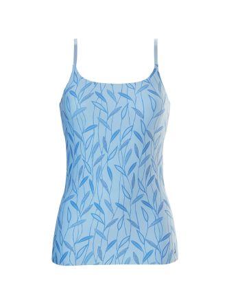 Ten Cate Vrouwen Secrets Spaghetti Shirt Leaves Ice Blue