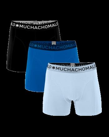 MuchachoMalo 3Pack SOLID 301 Dark Blue Blue Black Heren Boxershorts