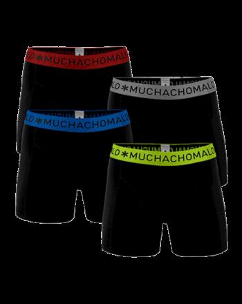 MuchachoMalo 4Pack SOLID 302 Black Heren Boxershorts