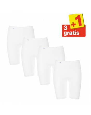 Sloggi Basic Long 4 pack Wit 3+1 Gratis