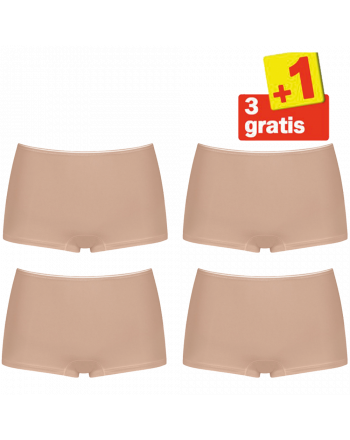 Sloggi Feel Sensational Short 02 4 pack Huid 3+1 Gratis