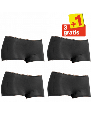 Sloggi Feel Sensational Short 02 4 pack Zwart 3+1 Gratis