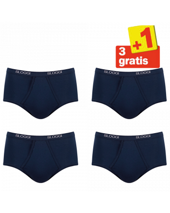 Sloggi Men Basic Maxi 4 pack Blauw 3+1 Gratis