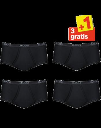 Sloggi Men Basic Maxi 4 pack Zwart 3+1 Gratis