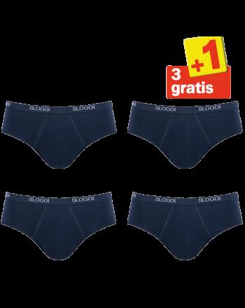 Sloggi Men Basic Midi 4 pack Donkerblauw 3+1 Gratis