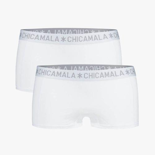 ChicaMala BASIC Short Wit 2Pack Dames Ondergoed