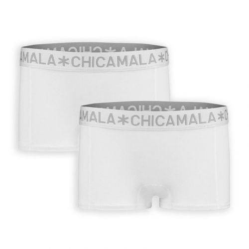 ChicaMala BASIC Short Wit 2Pack Meisjes Ondergoed