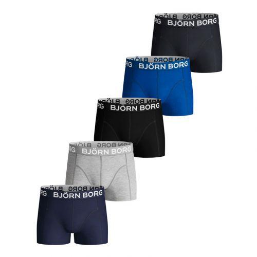 Bjorn Borg 5Pack Boys Shorts Blue Depths