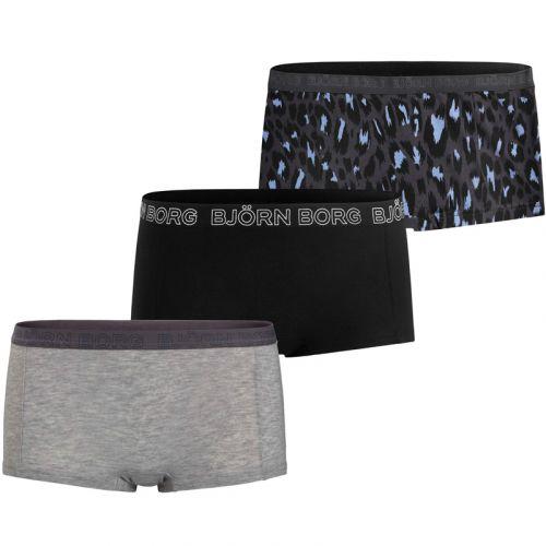 Bjorn Borg Dames 3Pack Mini Shorts Mia BB Shocking Leo Periscope