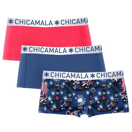 ChicaMala 3Pack Flower Power Shorts MuchachoMalo Dames Ondergoed