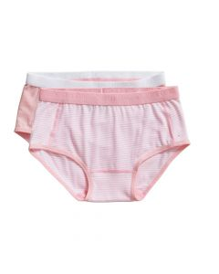 Ten Cate Meisjes Brief Slip 2Pack Stripe and Candy Pink 2-10Y Girls