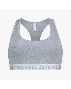 ChicaMala BASIC Racerback Top Grijs Dames Ondergoed