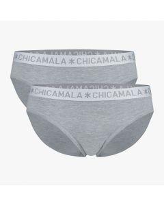 ChicaMala BASIC Brief Slip Grijs 2Pack Dames Ondergoed