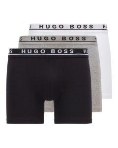Hugo Boss Cyclist Boxershorts 3Pack Grijs Wit Zwart